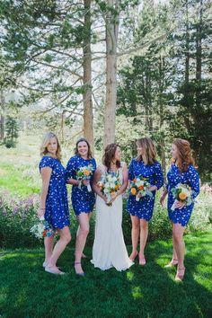 How cute are these bridesmaid dresses? {Ahava Studios}