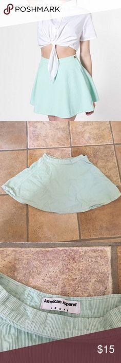 CORDUROY CIRCLE SKIRT sea green corduroy circle skirt American Apparel Skirts Circle & Skater