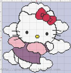 Hello Kitty entre nubes
