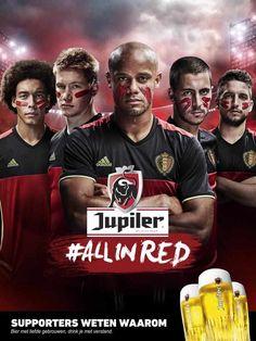 Jupiler wil België rood krijgen tijdens het EK