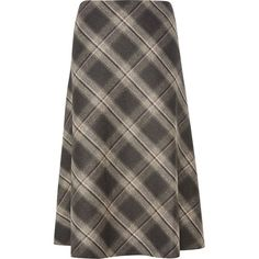 CC Check Skirt ($100) ❤ liked on Polyvore featuring skirts, grey, sale, checked skirt, mid calf skirt, bias cut skirt, checkerboard skirt and grey skirt