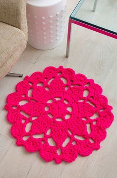 Pretty in Pink Rug in Red Heart Vivid - LW4074 - Downloadable PDF. Discover more patterns by 113 at LoveKnitting. We stock patterns, yarn, needles and books from all of your favourite brands.
