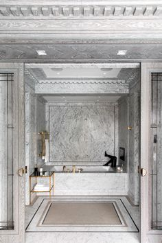 Interior Design Ideas Bathroom is certainly important for your home. Whether you pick the Luxury Bathroom Master Baths Glass Doors or Luxury Bathroom Master Baths Bathtubs, you will create the best Master Bathroom Ideas Decor Luxury for your own life. Bathroom Toilets, Bathroom Art, Bathroom Interior, Bathroom Ideas, Washroom, Grey Marble Bathroom, Marble Bathrooms, Bathroom Colors, Bathroom Flooring