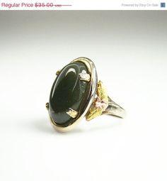 15 OFF Vintage Ring Victorian Revival LSP Co Jade by zephyrvintage, $29.75