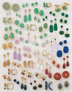 for the love of jewelry (Collection of all natural Jade earrings)