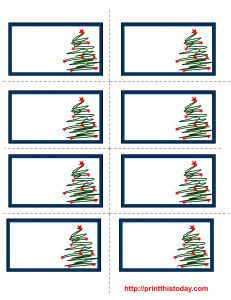 free printable christmas trees labels