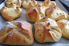 Patchwork und Kochen: Topfentascherl (Thermomix) Austrian Recipes, Austrian Food, Pretzel Bites, Baking Recipes, Bakery, Food And Drink, Bread, Cookies, Gabs