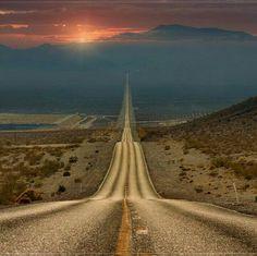 Lonely Road, Death Valley, USA. ©Ghenadie Shatov