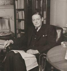 T.S. Elliot, London, March 1947 by  Lee Miller