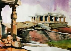 Hampi 2013 in Watercolor by Sushanto Choudhary- 1/12