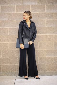 chic all black look
