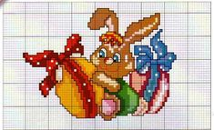 "Photo from album ""Пасхальные яйца"" on Yandex. Shih Tzu Mix, Easter Cross, Stitch 2, Crochet Chart, Cross Stitching, Bowser, Embroidery, Pattern, Crafts"