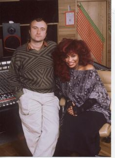 Phil Collins and Chaka Khan. Phil Collins, Genesis Band, Funk Bands, Chaka Khan, Women Of Rock, Old School Music, Soundtrack To My Life, Famous Singers, Great Women
