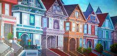 TheatreWorld's *Grand Victorian Row Homes Backdrop