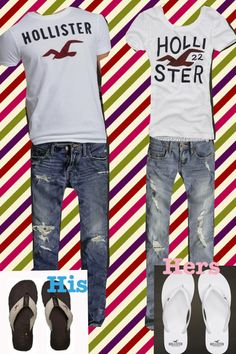 Complete Hollister outfit combos for twinning couples!!!! #cute #fashionable #stylish #matching #neat #pretty #handsome #relationship
