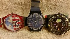 3 vintage Swatch watches need repair