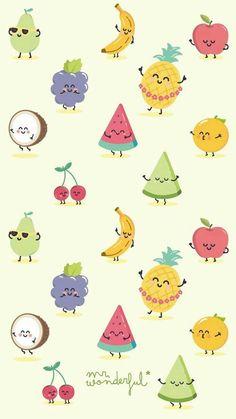 41 Ideas Fruit Wallpaper Kawaii For 2019 Summer Wallpaper, Cool Wallpaper, Pattern Wallpaper, Tropical Wallpaper, Kawaii Wallpaper, Disney Wallpaper, Cartoon Wallpaper, Cute Backgrounds, Wallpaper Backgrounds
