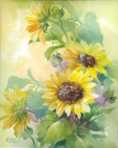 Firebrickart.com • View topic - Sunflowers by Andrew Orr, USA