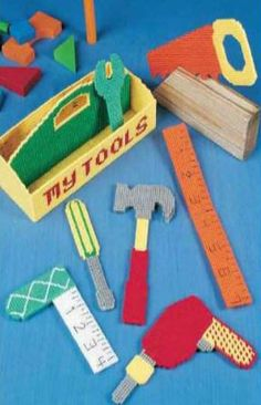 Toddler Tool Box Plastic Canvas Pattern INSTANT DOWNLOAD!!