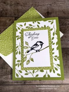 Petal Palette, xxx DSP, Wetlands (sentiment) - colors are: Old Olive & Black Stampin Up, Petite Palette, Stamping Up Cards, Bird Cards, Get Well Cards, Card Patterns, Cute Cards, Quick Cards, Sympathy Cards