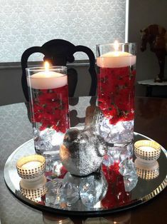 Birthday Decorations At Home, Banquet Decorations, Light Up The Candle, Tea Light Candles, Red Candles, Geometric Candle Holder, Square Candles, Floating Candle Centerpieces, Candle Set