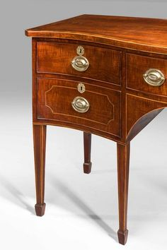 George III Period Serpentine Mahogany Sideboard (Ref No. 302) - Windsor House Antiques