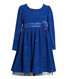 Bonnie Jean 716 Spangle Fuzzy Dress #Dillards