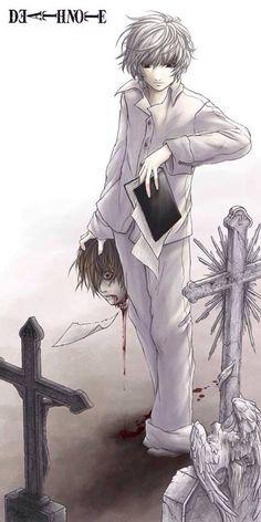 Sin Mal No Hay Bien Otra De Death Note Light Y L Es Un Detalle Los Opuestos Se Atraen