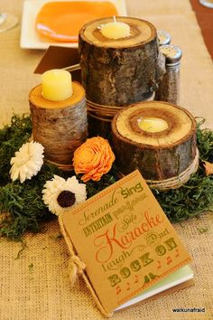 For Sale--Rustic Wedding Decor Items (Wood flowers, moss, chalk boards, etc...) :  wedding 0626