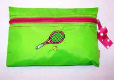 Tennis Cosmetic Bag Apple Green with by TennisGiftsToGo on Etsy