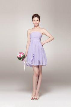 Lemandy Robe courte mousseline robe demoiselle d'honneur: Amazon.fr: Vêtements et accessoires