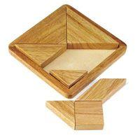 Jogo do Tangram em madeira