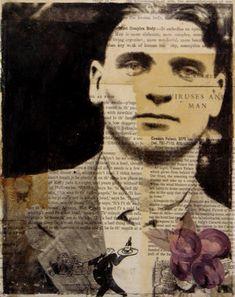 Michelle Caplan.   Brocantehome Collage Portrait, Painting Collage, Abstract Portrait, Collage Art, Figure Painting, Art Collages, Portrait Paintings, Painting Abstract, Acrylic Paintings