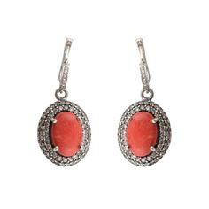 pink coral in 925 silver