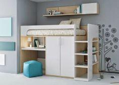 Literas con escritorio debajo | Dormitorios juveniles| Habitaciones infantiles y mueble juvenil Madrid