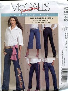 McCall's Classic Perfect Fit embroided jeans 2006