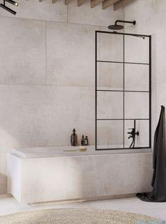 Radaway Idea Black Pnj Factory parawan nawannowy L/P Bathroom Design Inspiration, Bathroom Interior Design, Interior Design Living Room, Modern Bathroom, Small Bathroom, Rainbow House, Bath Screens, Laundry In Bathroom, Shower Doors