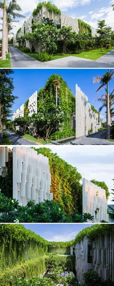 Green facade contemporist — This New Resort Spa Is Covered In Hanging Gardens. Architecture Design, Green Architecture, Futuristic Architecture, Sustainable Architecture, Sustainable Design, Amazing Architecture, Landscape Architecture, Landscape Design, Garden Design