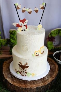 Woodland themed cake
