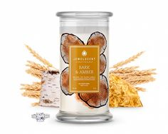 Bark and Amber Jewelry Candle  for $24.99 at JewelScent.com