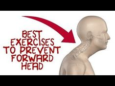 Here are five forward head exercises to fix ugly forward head posture and prevent long term spinal damage. Click Below for the Forward Head Posture Self-Test. Fitness Workouts, Easy Workouts, Fitness Hacks, Fitness Quotes, Posture Correction Exercises, Neck Exercises, Forward Head Posture Correction, Exercises For Better Posture, Scoliosis Exercises