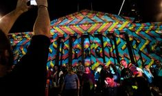 White Night, Melbourne - a kaleidoscope' a projection of light and colour on the State Library of Victoria