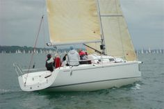The J/97 available with a tiller or wheel http://www.murrayyachtsales.com