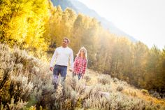 Vail engagement session in the fall