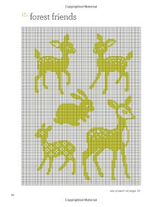 Forest Friends Cross Stitch Pattern - Deer, bunny, doe