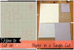 Silhouette School: Get Silhouette to Cut on Different Paper in One Cut (Fail Proof)