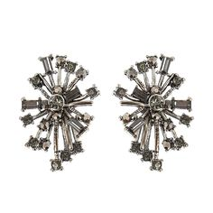 JASSY® Punk Snowflake Women Earrings Retro 18K Gold and Platinum Plated Crystal Rhinestone Ear Stud