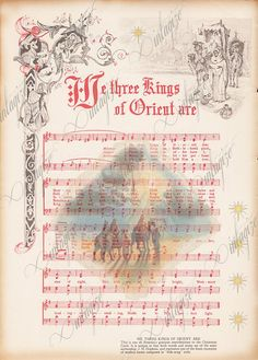we three kings printable vintage christmas sheet music Christmas Sheet Music, Christmas Paper, Christmas Images, Christmas Carol, Winter Christmas, Vintage Christmas, Xmas, Christmas Ideas, Sheet Music Art