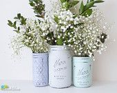 Wedding Centerpiece / Decor / Decoration / Mason Jar by BeachBlues
