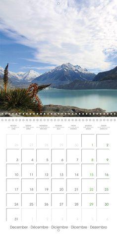 "Reisekalender mit Planer ""New Zealand – Variety of the South Island"", Kalenderblatt Dezember: Tasman Glacier"
